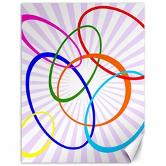 Abstract Background With Interlocking Oval Shapes Canvas 12  X 16