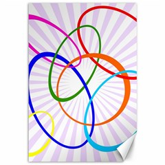 Abstract Background With Interlocking Oval Shapes Canvas 12  X 18