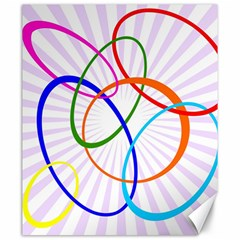 Abstract Background With Interlocking Oval Shapes Canvas 20  X 24
