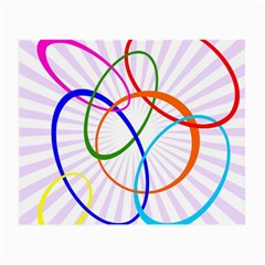 Abstract Background With Interlocking Oval Shapes Small Glasses Cloth (2-Side)