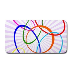 Abstract Background With Interlocking Oval Shapes Medium Bar Mats