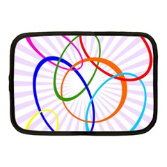 Abstract Background With Interlocking Oval Shapes Netbook Case (Medium)