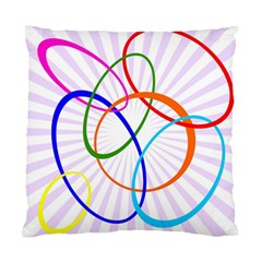 Abstract Background With Interlocking Oval Shapes Standard Cushion Case (Two Sides)