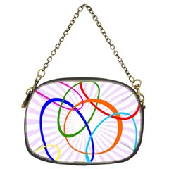 Abstract Background With Interlocking Oval Shapes Chain Purses (Two Sides)