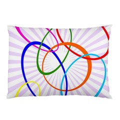 Abstract Background With Interlocking Oval Shapes Pillow Case