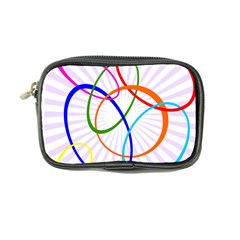 Abstract Background With Interlocking Oval Shapes Coin Purse
