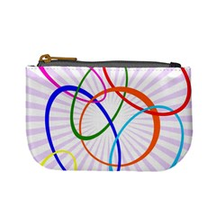 Abstract Background With Interlocking Oval Shapes Mini Coin Purses