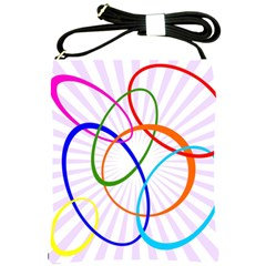 Abstract Background With Interlocking Oval Shapes Shoulder Sling Bags