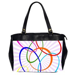 Abstract Background With Interlocking Oval Shapes Office Handbags (2 Sides)