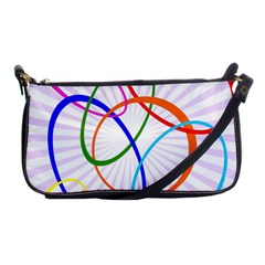 Abstract Background With Interlocking Oval Shapes Shoulder Clutch Bags