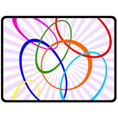 Abstract Background With Interlocking Oval Shapes Fleece Blanket (large)