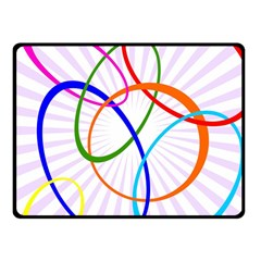 Abstract Background With Interlocking Oval Shapes Fleece Blanket (Small)
