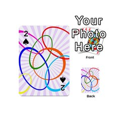 Abstract Background With Interlocking Oval Shapes Playing Cards 54 (Mini)