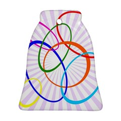 Abstract Background With Interlocking Oval Shapes Ornament (bell)