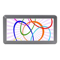 Abstract Background With Interlocking Oval Shapes Memory Card Reader (Mini)