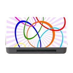 Abstract Background With Interlocking Oval Shapes Memory Card Reader with CF