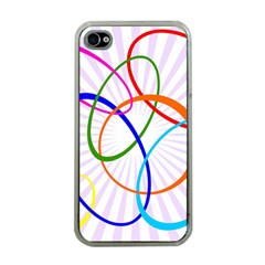 Abstract Background With Interlocking Oval Shapes Apple iPhone 4 Case (Clear)