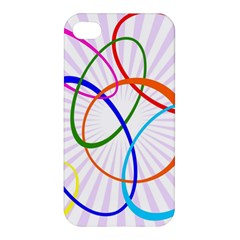 Abstract Background With Interlocking Oval Shapes Apple iPhone 4/4S Premium Hardshell Case