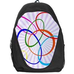 Abstract Background With Interlocking Oval Shapes Backpack Bag