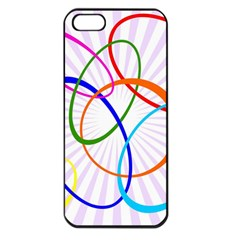 Abstract Background With Interlocking Oval Shapes Apple Iphone 5 Seamless Case (black)