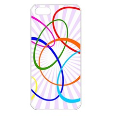 Abstract Background With Interlocking Oval Shapes Apple Iphone 5 Seamless Case (white)