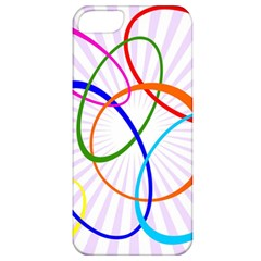 Abstract Background With Interlocking Oval Shapes Apple Iphone 5 Classic Hardshell Case
