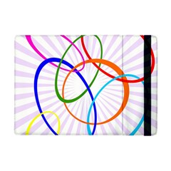 Abstract Background With Interlocking Oval Shapes Apple Ipad Mini Flip Case