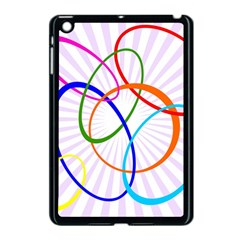 Abstract Background With Interlocking Oval Shapes Apple Ipad Mini Case (black)