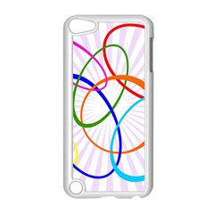 Abstract Background With Interlocking Oval Shapes Apple iPod Touch 5 Case (White)