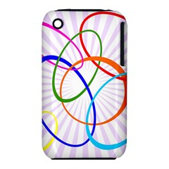 Abstract Background With Interlocking Oval Shapes Iphone 3s/3gs