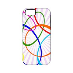 Abstract Background With Interlocking Oval Shapes Apple Iphone 5 Classic Hardshell Case (pc+silicone)