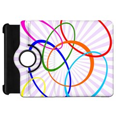 Abstract Background With Interlocking Oval Shapes Kindle Fire Hd 7
