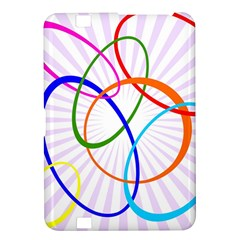 Abstract Background With Interlocking Oval Shapes Kindle Fire Hd 8 9