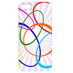 Abstract Background With Interlocking Oval Shapes Apple Iphone 5 Hardshell Case With Stand