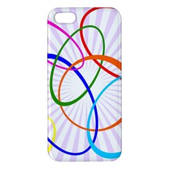Abstract Background With Interlocking Oval Shapes Apple Iphone 5 Premium Hardshell Case