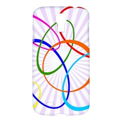Abstract Background With Interlocking Oval Shapes Samsung Galaxy S4 I9500/i9505 Hardshell Case