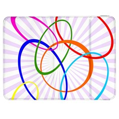 Abstract Background With Interlocking Oval Shapes Samsung Galaxy Tab 7  P1000 Flip Case