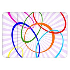 Abstract Background With Interlocking Oval Shapes Samsung Galaxy Tab 8 9  P7300 Flip Case