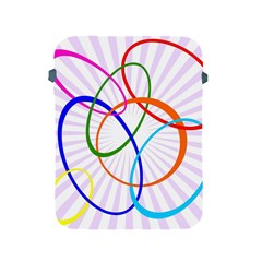 Abstract Background With Interlocking Oval Shapes Apple iPad 2/3/4 Protective Soft Cases