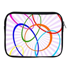 Abstract Background With Interlocking Oval Shapes Apple Ipad 2/3/4 Zipper Cases