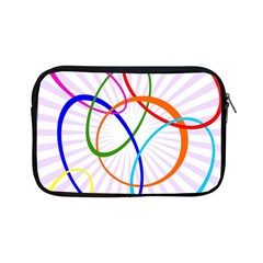 Abstract Background With Interlocking Oval Shapes Apple Ipad Mini Zipper Cases