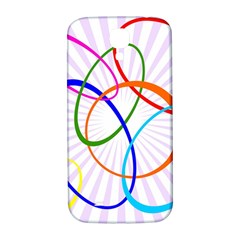 Abstract Background With Interlocking Oval Shapes Samsung Galaxy S4 I9500/i9505  Hardshell Back Case