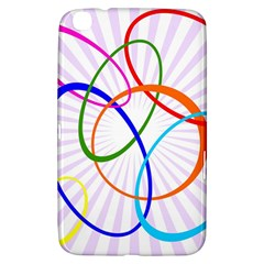 Abstract Background With Interlocking Oval Shapes Samsung Galaxy Tab 3 (8 ) T3100 Hardshell Case