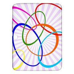 Abstract Background With Interlocking Oval Shapes Samsung Galaxy Tab 3 (10 1 ) P5200 Hardshell Case