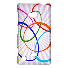 Abstract Background With Interlocking Oval Shapes Nokia Lumia 720