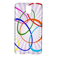 Abstract Background With Interlocking Oval Shapes Samsung Galaxy Note 3 N9005 Hardshell Case