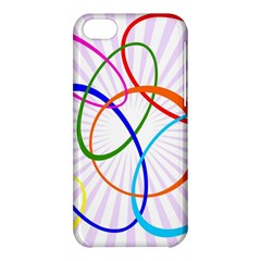Abstract Background With Interlocking Oval Shapes Apple Iphone 5c Hardshell Case