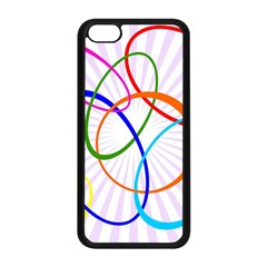 Abstract Background With Interlocking Oval Shapes Apple Iphone 5c Seamless Case (black)