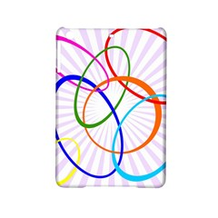 Abstract Background With Interlocking Oval Shapes Ipad Mini 2 Hardshell Cases