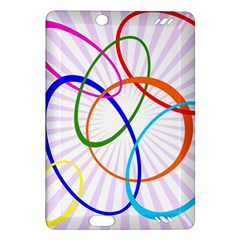 Abstract Background With Interlocking Oval Shapes Amazon Kindle Fire HD (2013) Hardshell Case